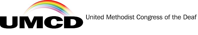 The United Methodist Congress of the Deaf with rainbow logo